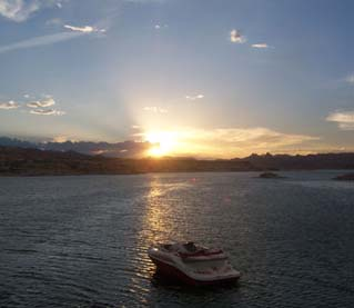 Sunset on Lake Mead