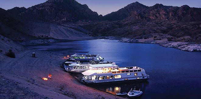 Select your houseboat at Lake Mead