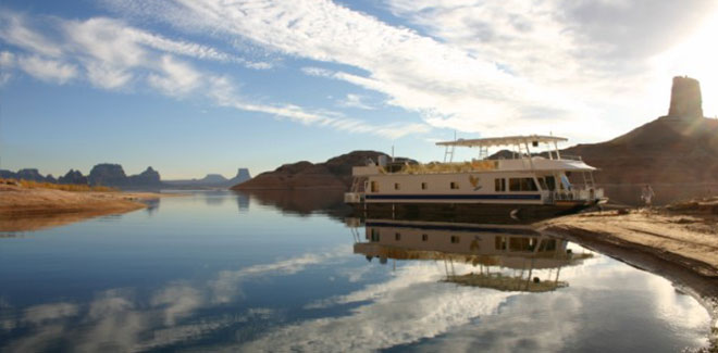 Houseboat Lake Powell, Arizona