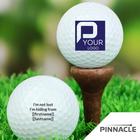 Designer Pinnacle Golf Ball 3-Pack