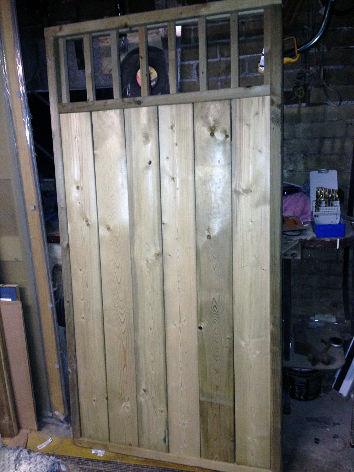 Building A Privacy Fence And Double Gate Row House Reno