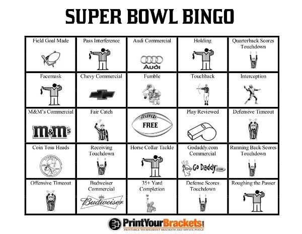 photo relating to Printable Super Bowl Bingo Cards referred to as printable-tremendous-bowl-bingo-sheets Correct Household Control