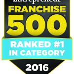 #1 in Entrepreneur Magazine's Franchise 500
