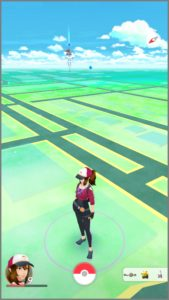 Pokémon Go game screen.