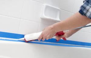 Caulk bathroom before renting your house