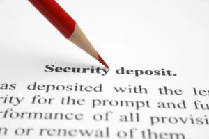 rental property security deposit covers