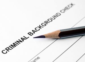 Criminal background check tenant