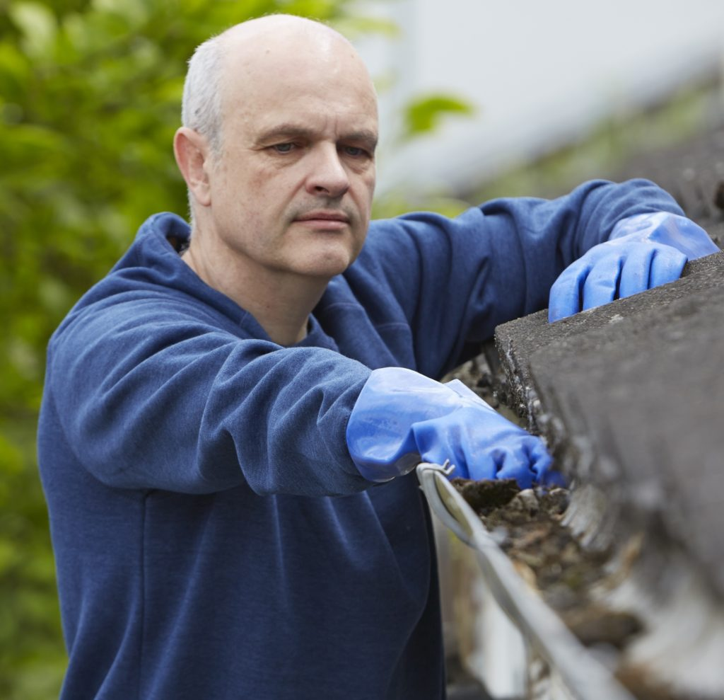 household maintenance clean gutters