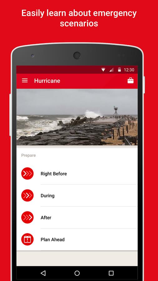 red cross hurricane app