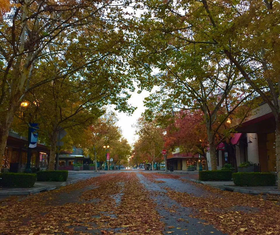 a street in downtown turlock