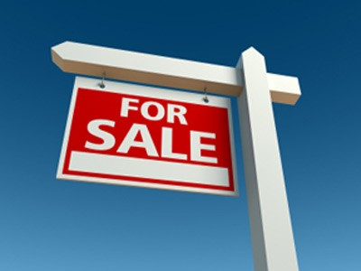 for sale home sign post and sign