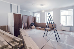 Live Oak House in the Midst of Remodeling Construction
