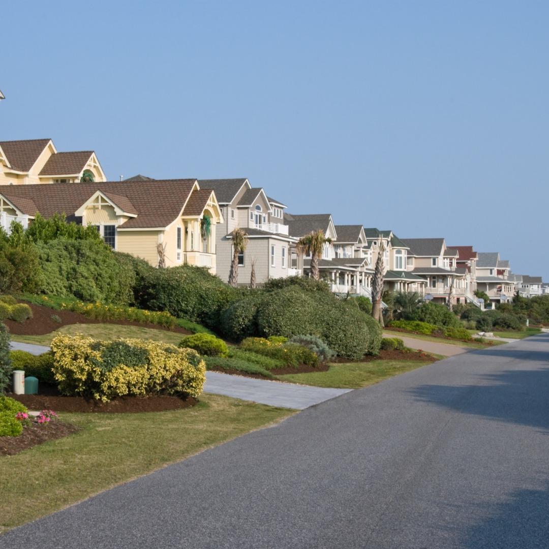 Neighborhood street in eastern United States