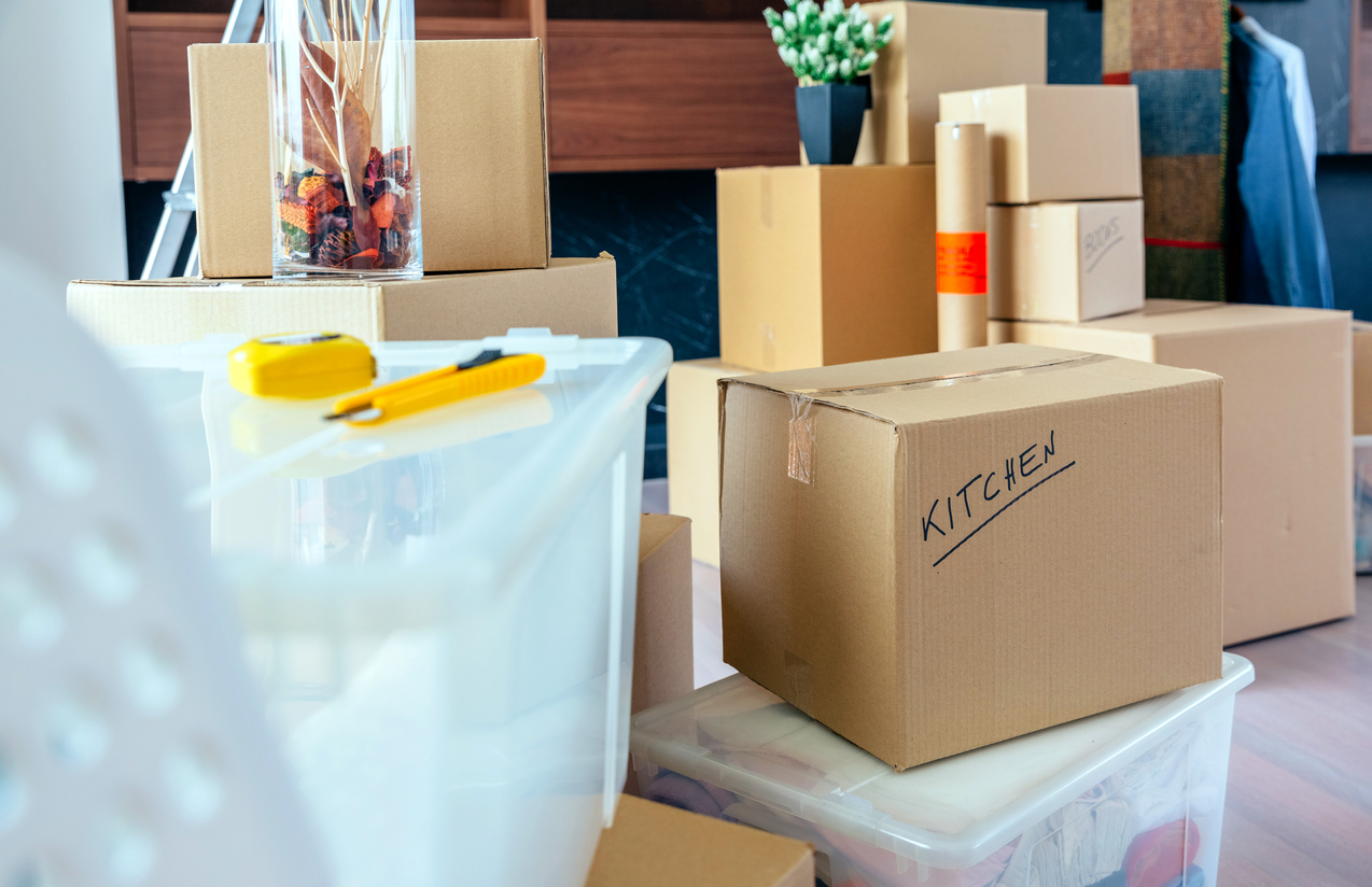 Boxes for a Tenant Who is Moving into Your Lake Los Angeles Rental Property