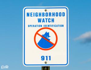 Rosamond Neighborhood Watch Sign