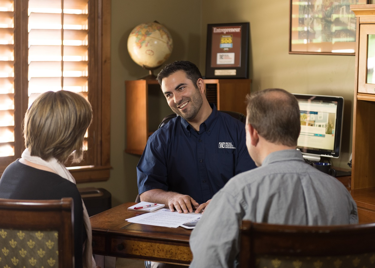 Van Nuys Property Manager Going Over the Terms of a Lease