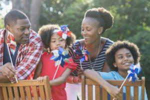 Wellsville Family Celebrating Memorial Day