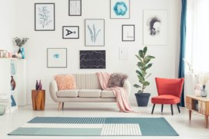 Colorful Living Room in Wellsville Rental Home