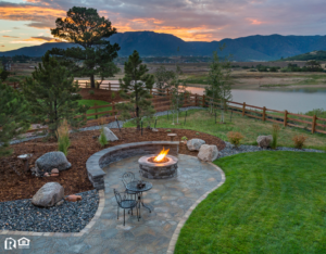 A Newly Landscaped Backyard in a Blackfoot Rental Property