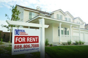 Fresh Sign on a New Rental Property in Idaho Falls