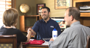 RPM Property Manager Shaking Hands with Local Property Owner