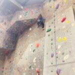 Jade Mattacchione at a Rock Climbing Gym