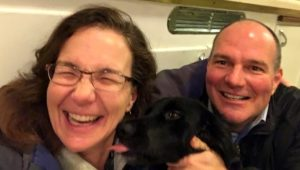 Happy Tenants and Their Dog