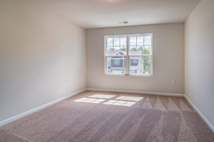 Freshly cleaned living room of a vacant apartment