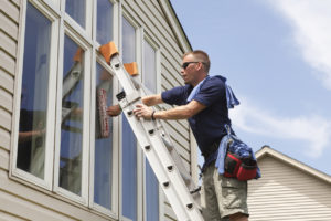 Window Washing for a Great First Impression at Your Mystic Rental Property