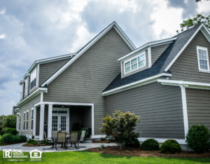 Groton Rental Property Exterior and Patio