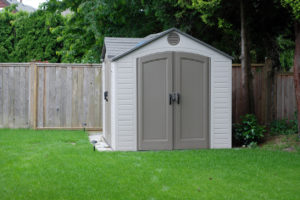 A Small Storage Shed in the Backyard