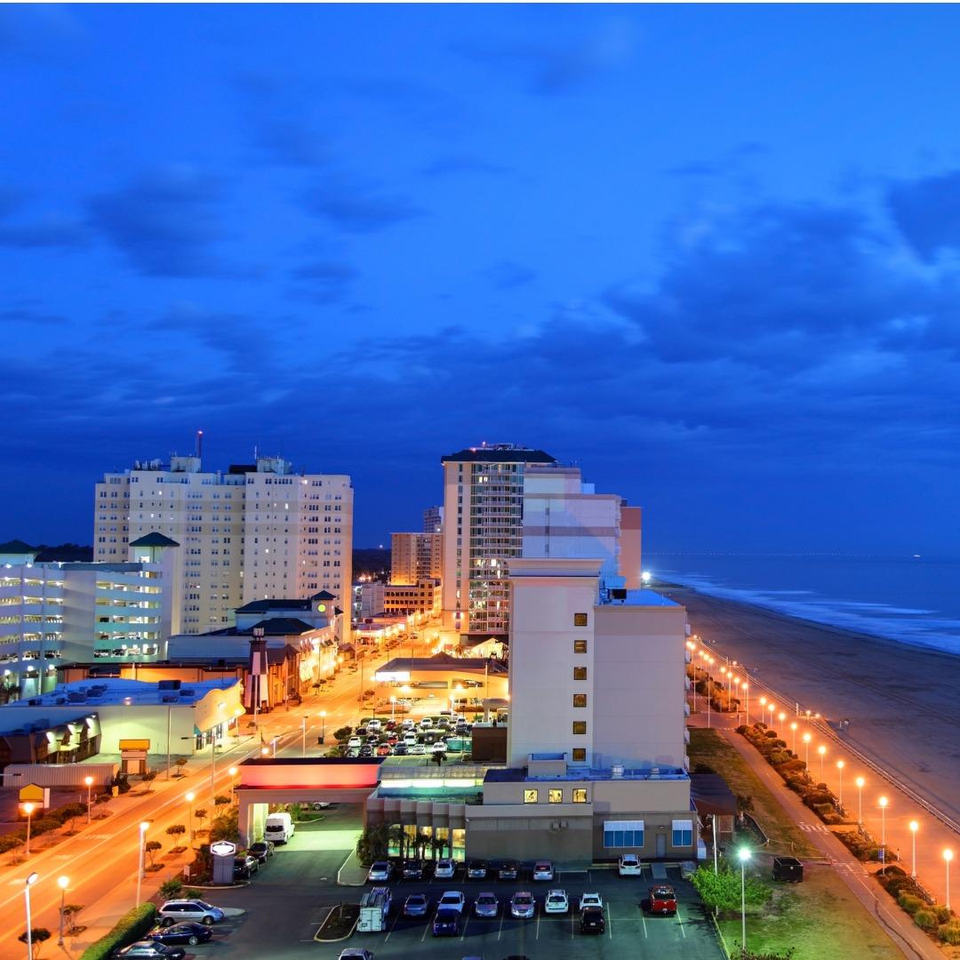 Oceanfront view of Virginia Beach, Virginia