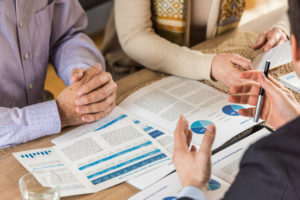 Norwalk Couple Meeting with a Financial Advisor