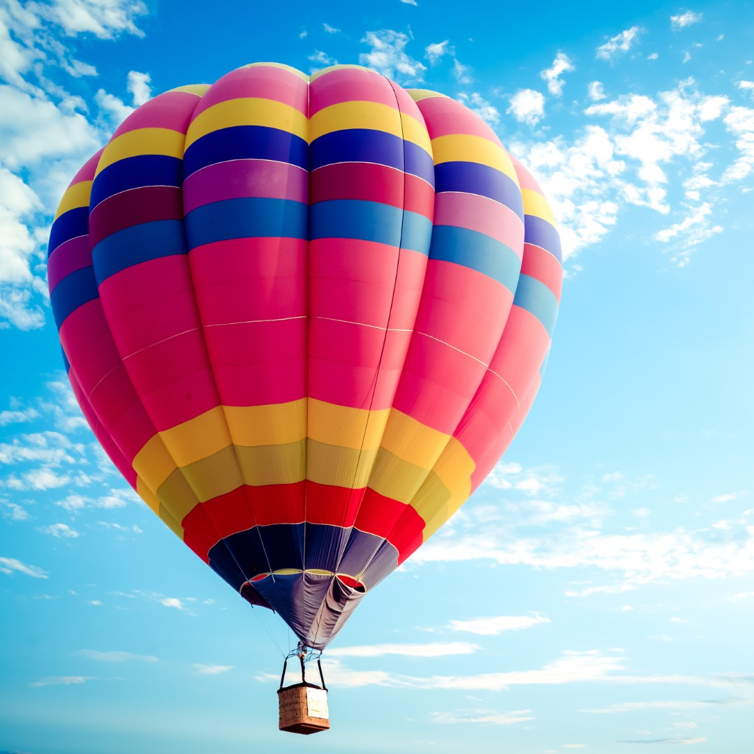 Colorful Hot Air Balloon Floating in the Sky