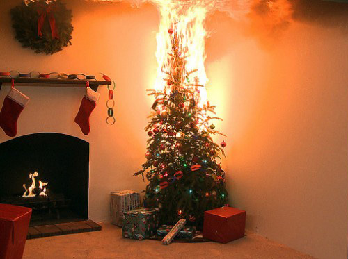 Fire Hazard In Your Raleigh Home Christmas Trees - Christmas Trees On Fire