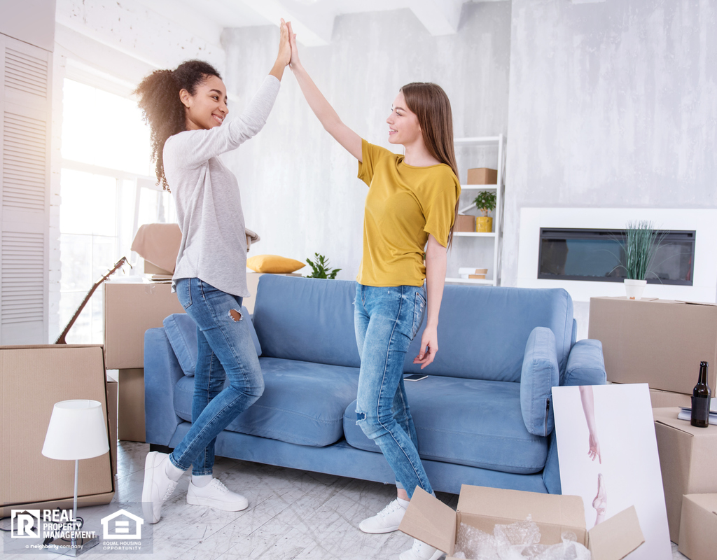 Happy Langhorne Roommates Moving Into a New Home