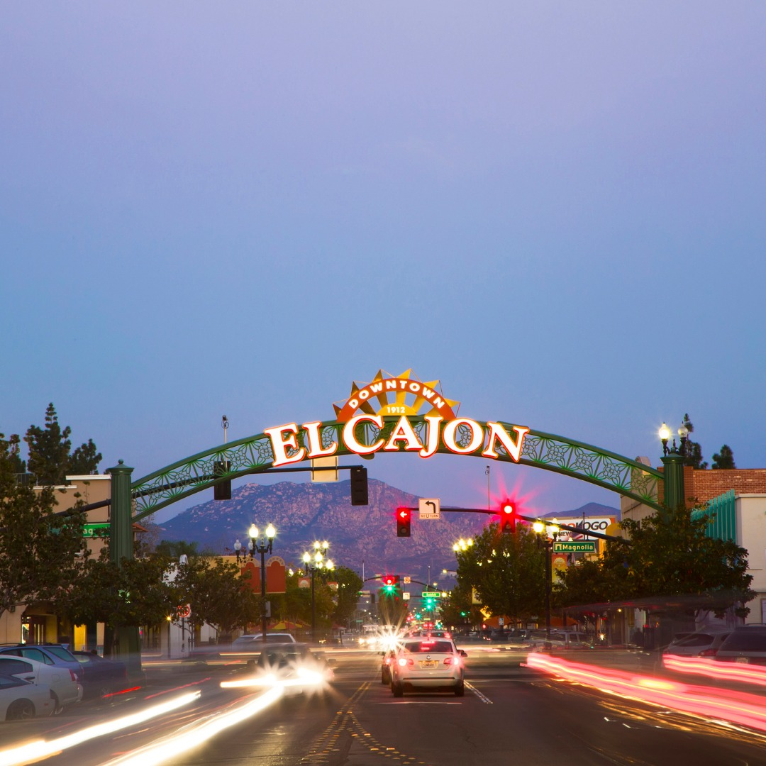 Stree View of El Cajon at Night
