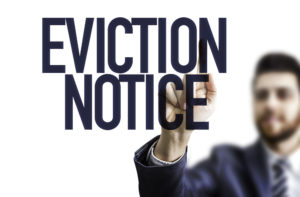 Eviction Notice. There are some cons to being a landlord