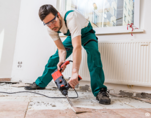 Sparks Tenant Trying to Fix Floors in a Rental Property