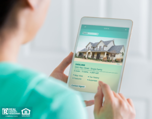 Woman on Tablet Looking at Sparks Property Costs