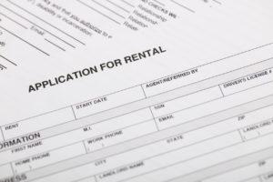 Close Up View of a Fruita Rental Property Application