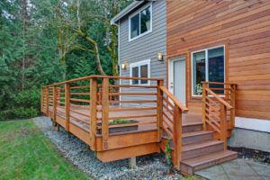 Batesville Rental Property with a Newly Renovated Deck and Sliding Door