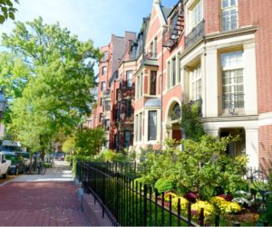Beautiful Homes Along an Avenue in Boston MA