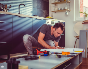 Bartlett Landlord Repairing the Kitchen Cabinets