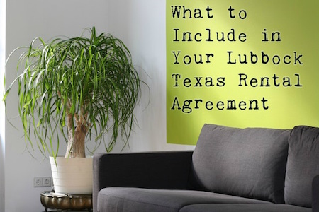 Superior What Include Lubbock Texas Rental Agreement
