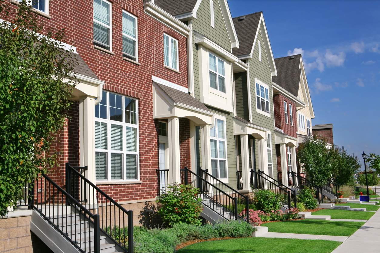 Row of Townhouses in Owings Mills MD