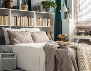 Small Bedroom Interior in a Eldersburg Rental Home