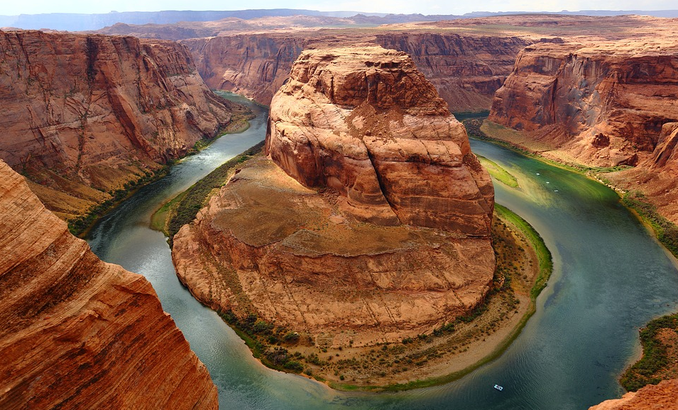 Scenic Arial View of Horseshoe Bend in Arizona