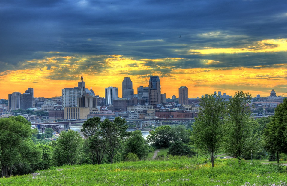 Scenic View of the City in Minnesota