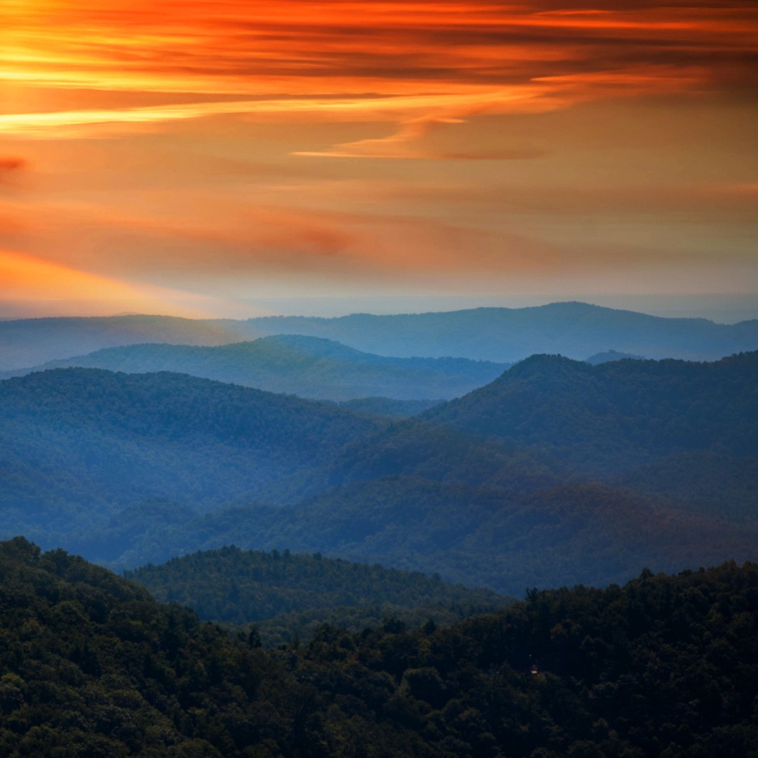 Blue Ridge Mountains near Salem, Virginia